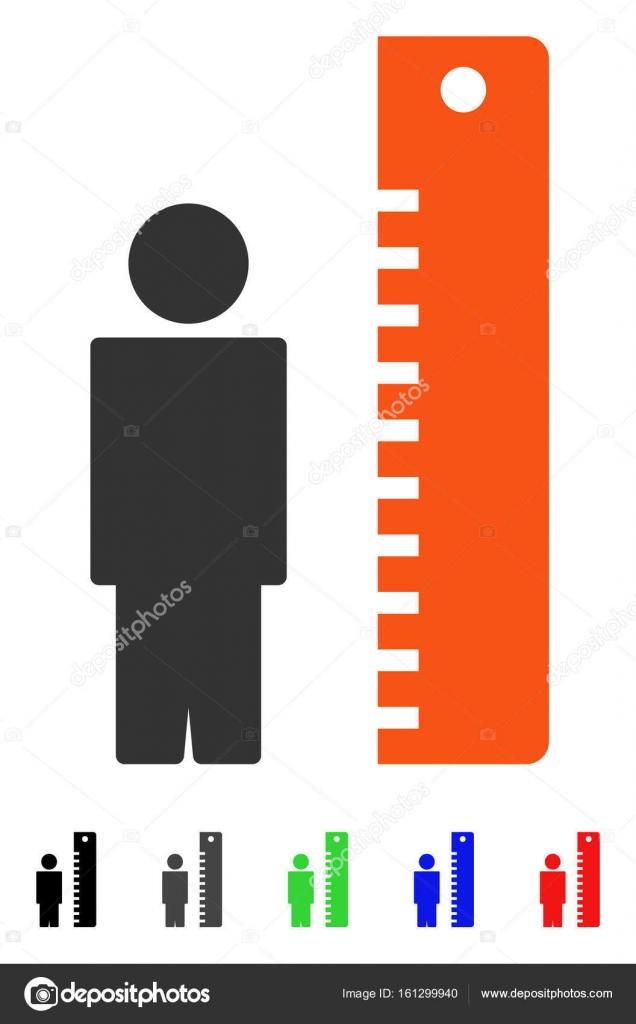 Höhe Meter flach-Symbol — Stockvektor © ahasoft #161299940