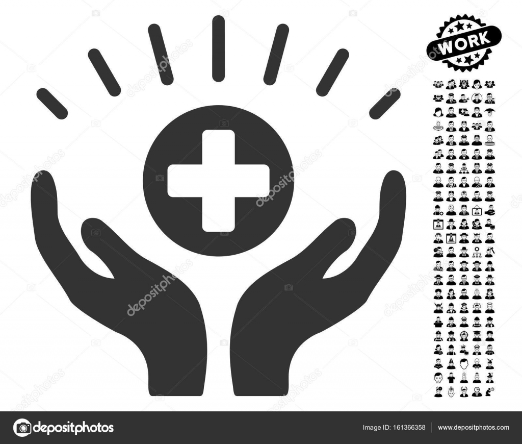 Medical prosperity icon with people bonus stock vector ahasoft medical prosperity icon with black bonus job icon set medical prosperity vector illustration style is a flat gray iconic symbol for web design buycottarizona