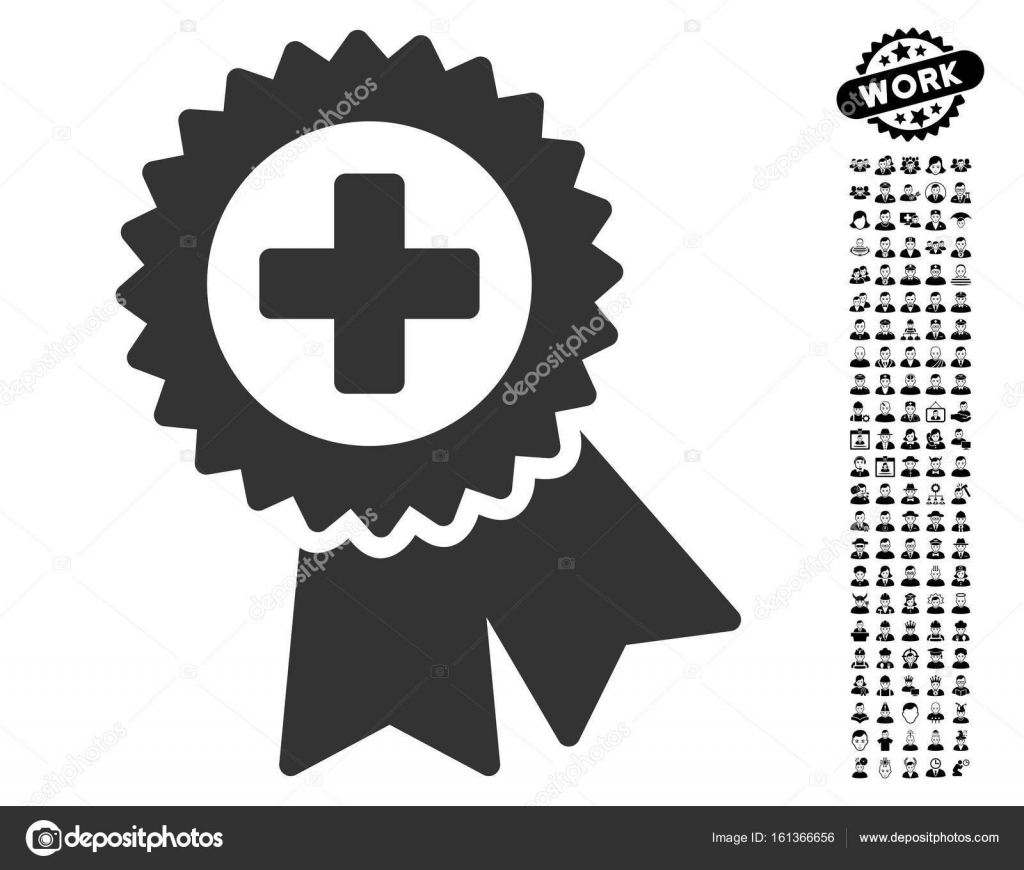 Medical Quality Seal Icon With Work Bonus Stock Vector Ahasoft