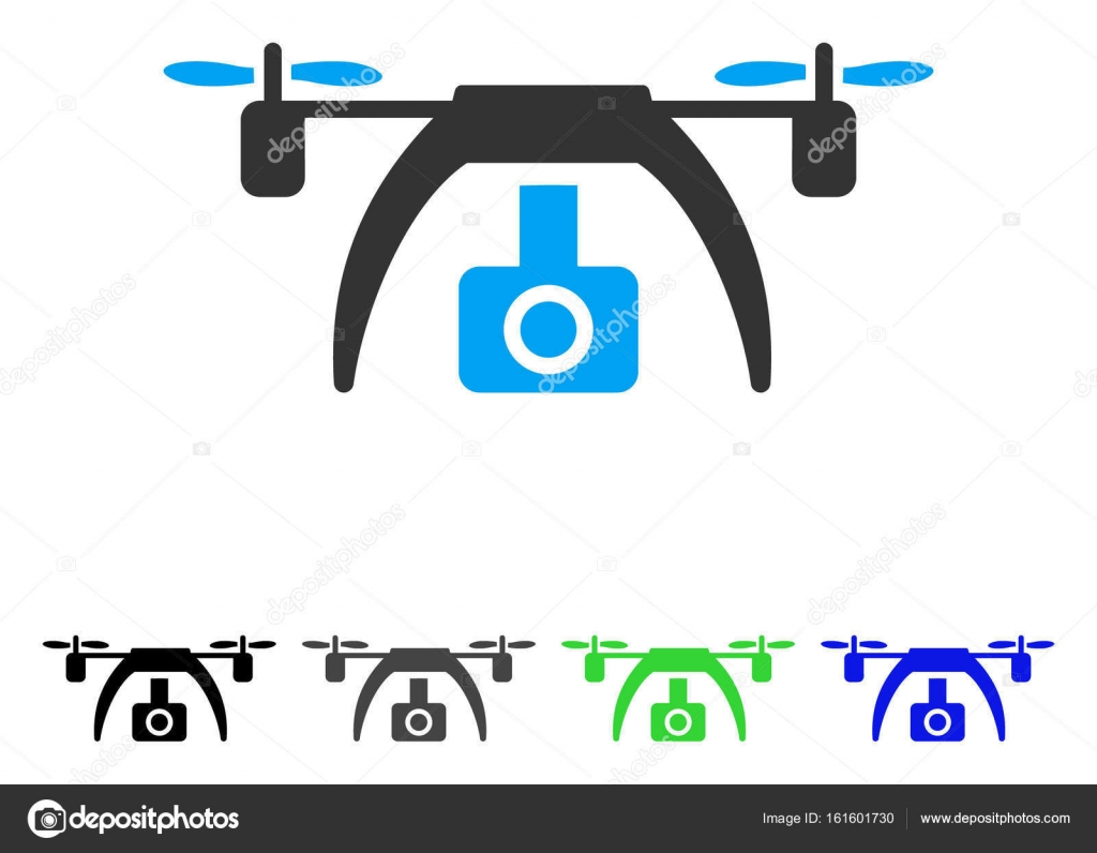 Drone Video Camera Flat Icon Stock Vector