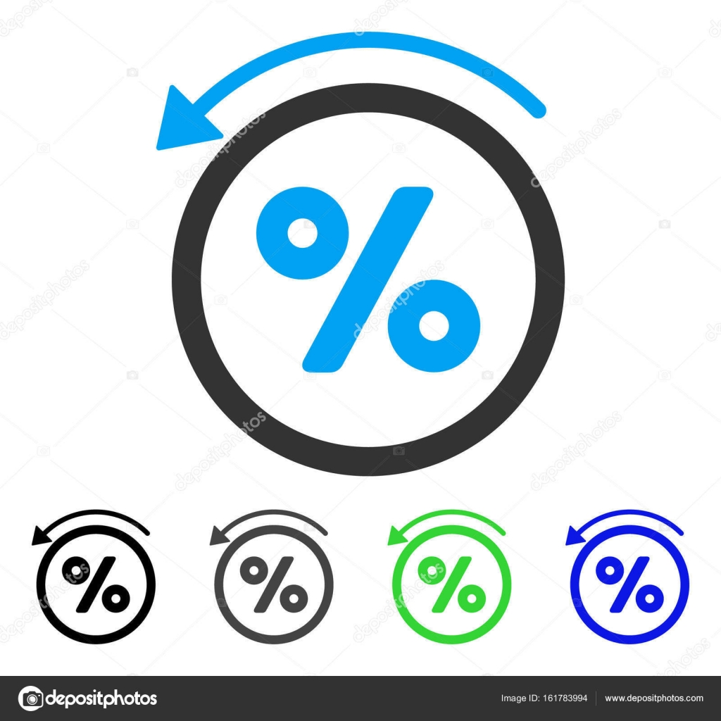 Colored rebate percent gray, black, blue, green icon variants. Flat icon  style for application design. — Vector by ahasoft. Find Similar Images