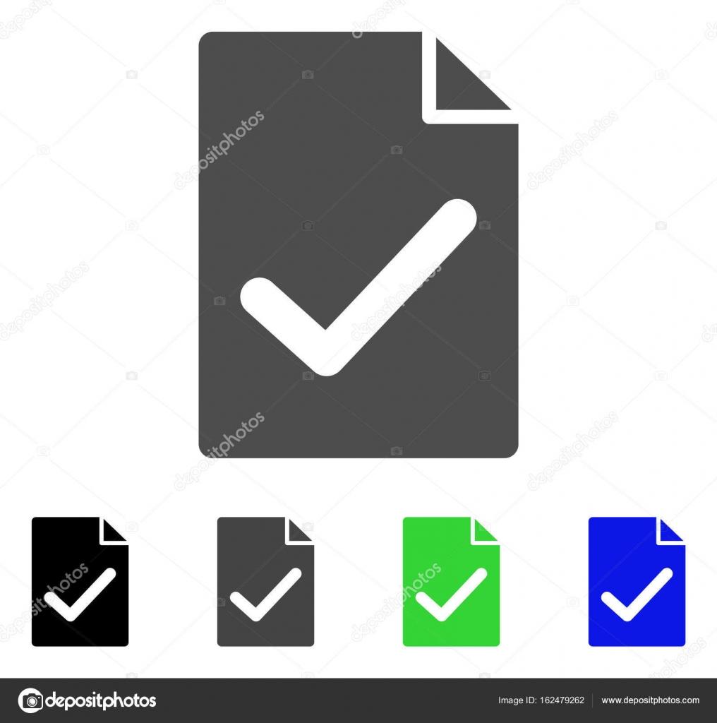 Gültige Vereinbarung Seite Flach Symbol Stockvektor Ahasoft