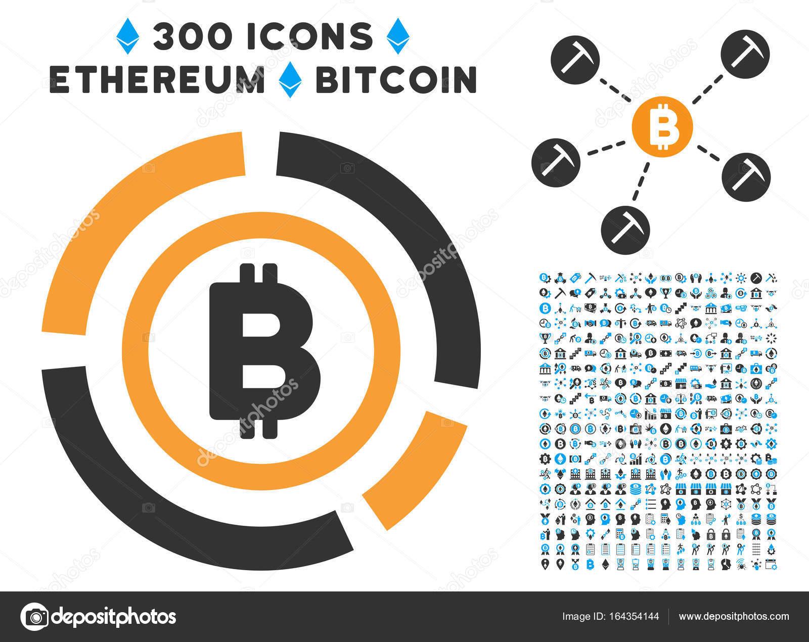 Bitcoin circle diagram flat icon with clip art stock vector bitcoin circle diagram flat icon with clip art stock vector ccuart Choice Image