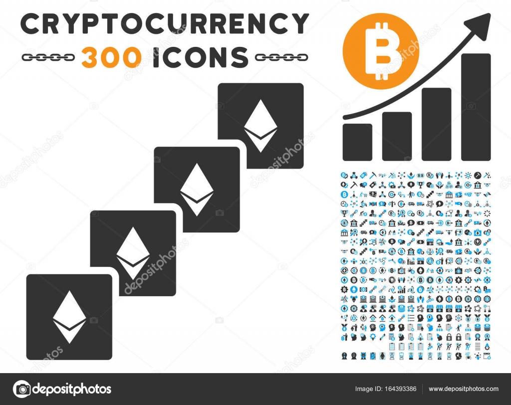 Ethereum Blockchain Flat Icon With Clip Art Stock Vector