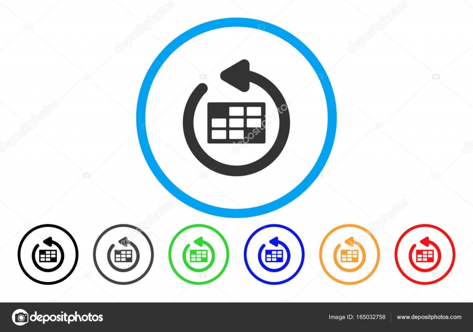 Actualizar Calendario.Actualizar Calendario Tabla Icono Redondeado Vector De