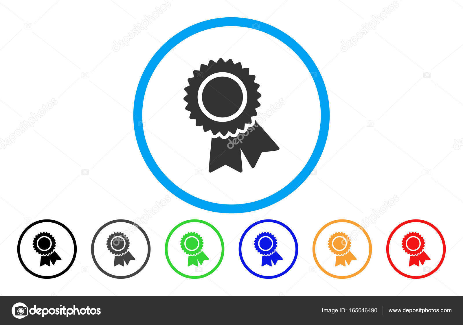 Certification Rounded Icon — Stock Vector © ahasoft #165046490