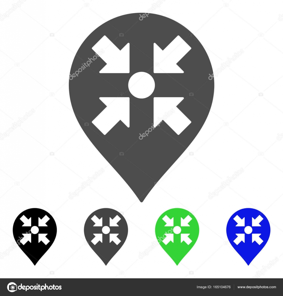 Meeting Point Marker Flat Icon Stock Vector Ahasoft 165104676