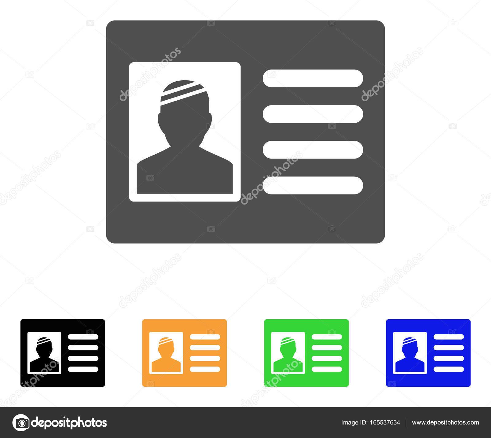 formato de credenciales de identificacion icono de plano la