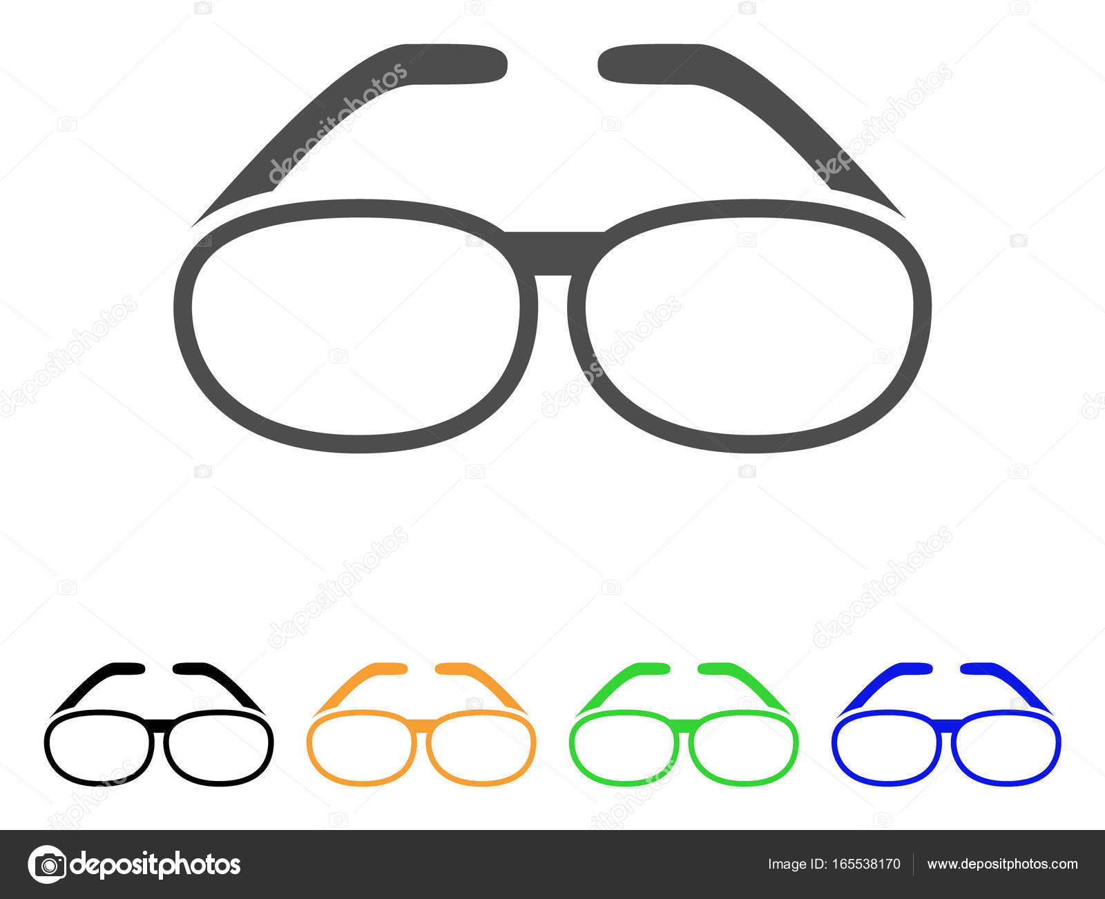 Spectacles Flat Icon Stock Vector Ahasoft 165538170