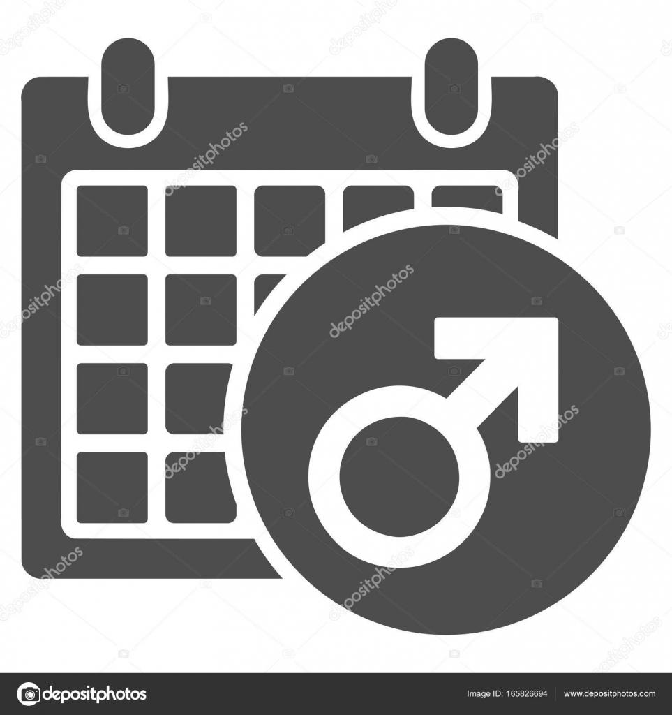 Simbolo De Calendario.Simbolo Maschio Calendario Icona Piana Vettoriali Stock