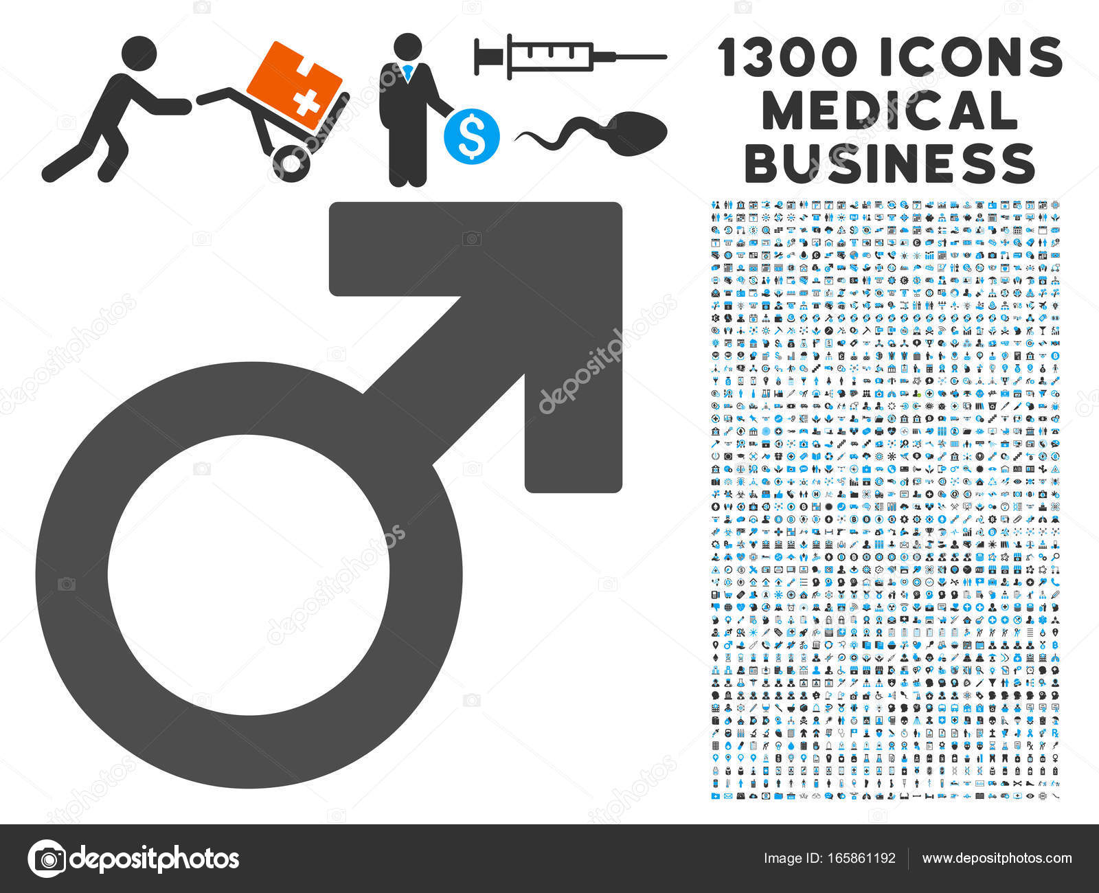 Male symbol icon with 1300 medical business icons stock vector male symbol icon with 1300 medical business icons stock vector buycottarizona Images