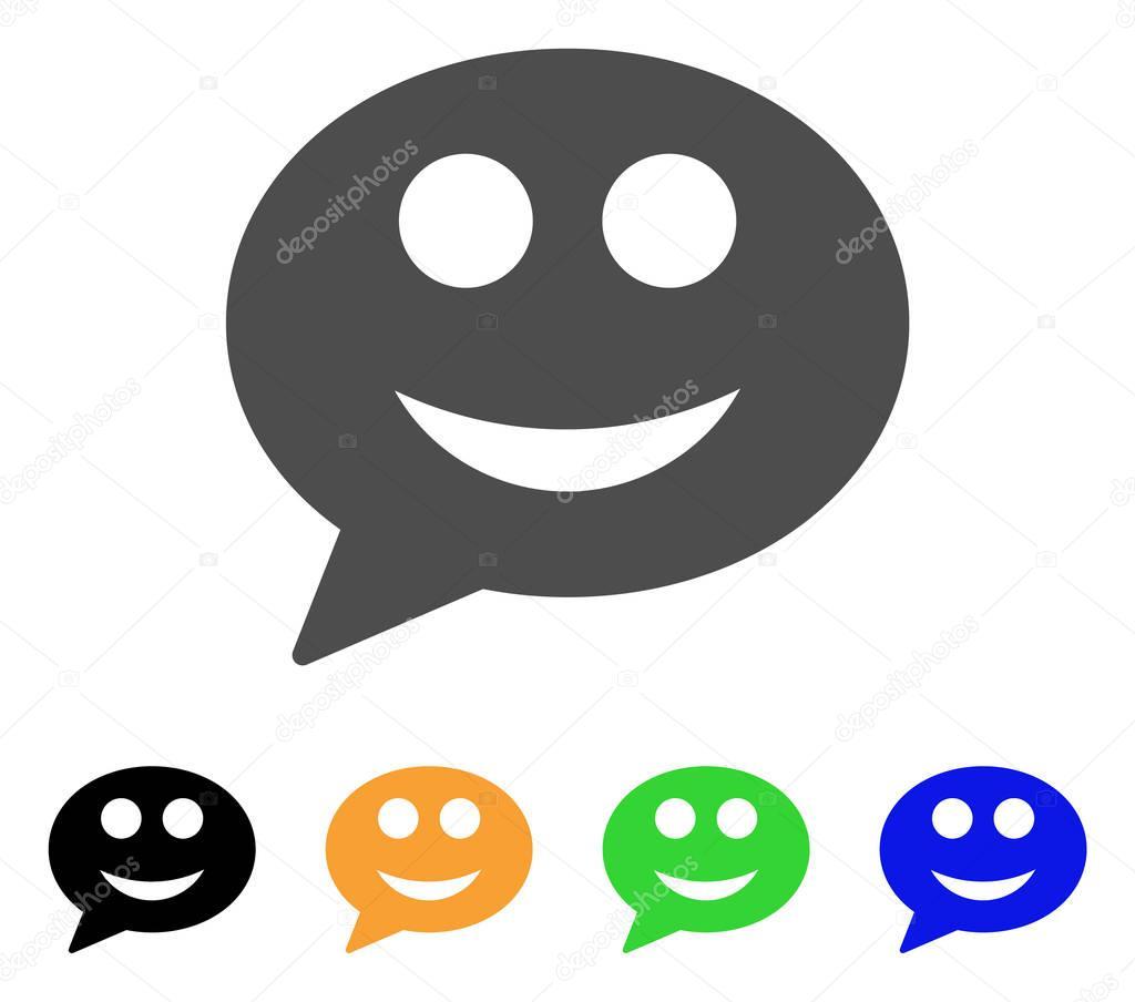 Повідомлення посмішка смайлик векторної Icon