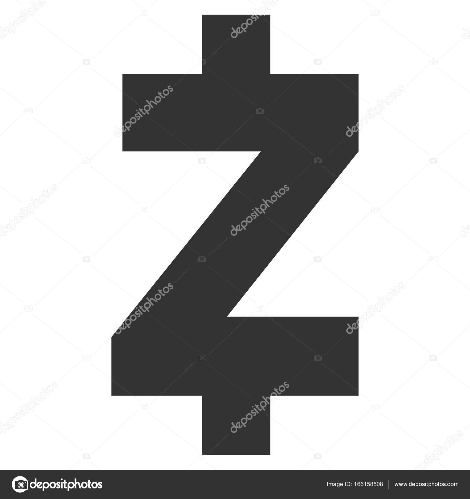 Zcash Flat Icon Stock Vector