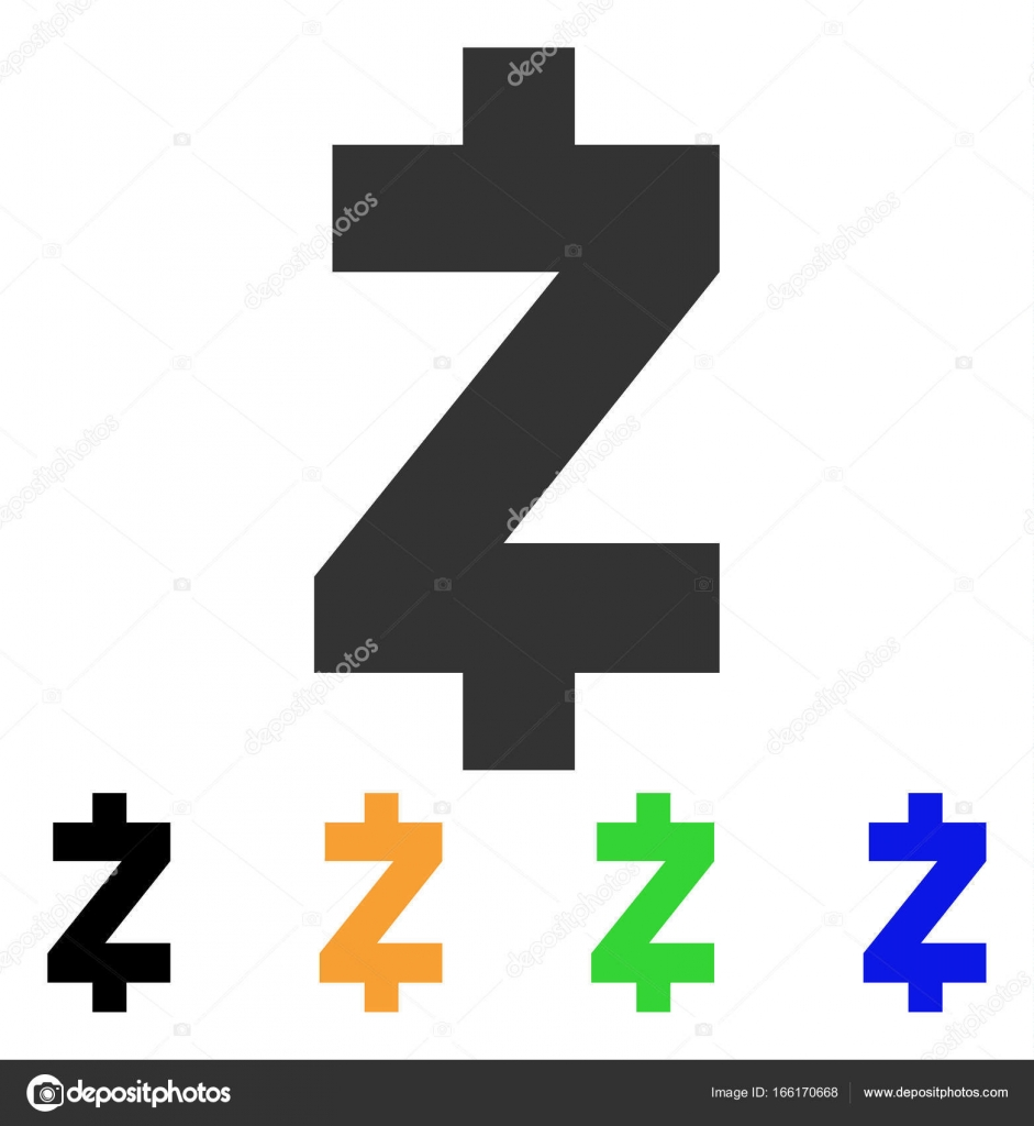 Zcash Icon Vector Illustration Style Is A Flat Iconic Symbol With Black Grey Green Blue Yellow Color Versions Designed For Web And Software