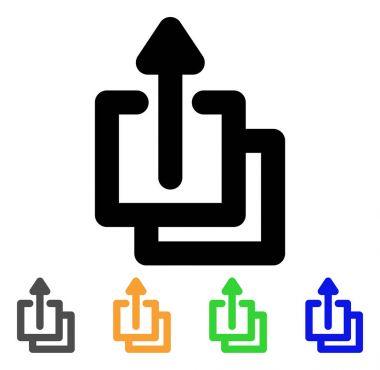 Uploads Stroke Icon