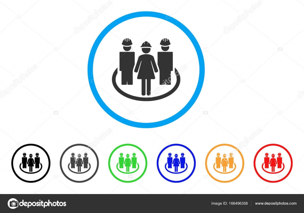 Worker Social Relations Rounded Icon Stock Vector Ahasoft 166496358