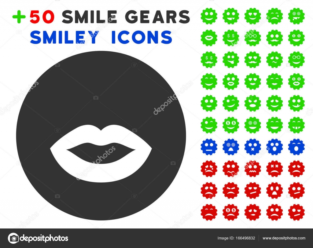 Kiss Smiley Icon With Bonus Avatar Clipart Stock Vector Ahasoft