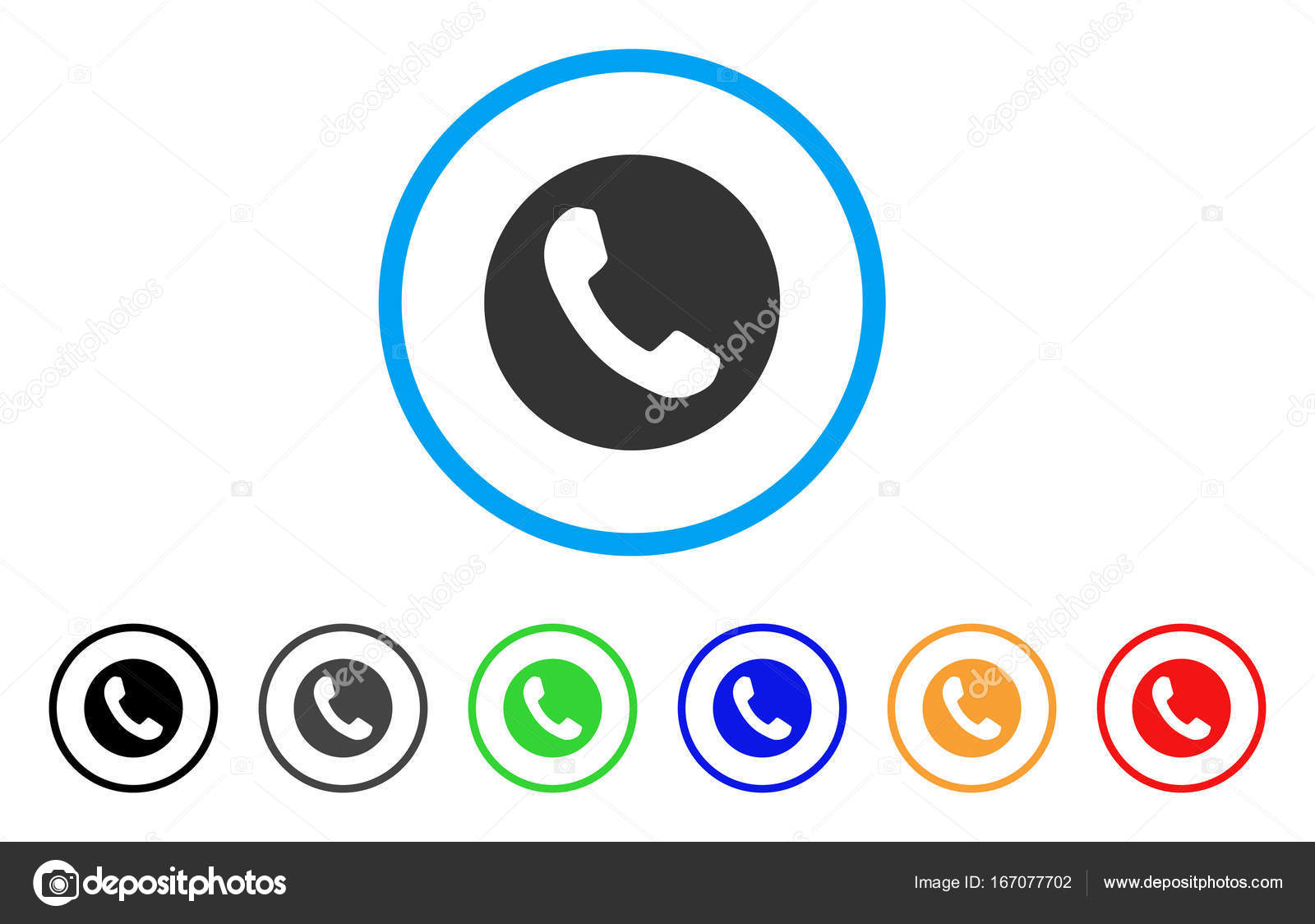 Phone Number Rounded Icon Stock Vector Ahasoft 167077702