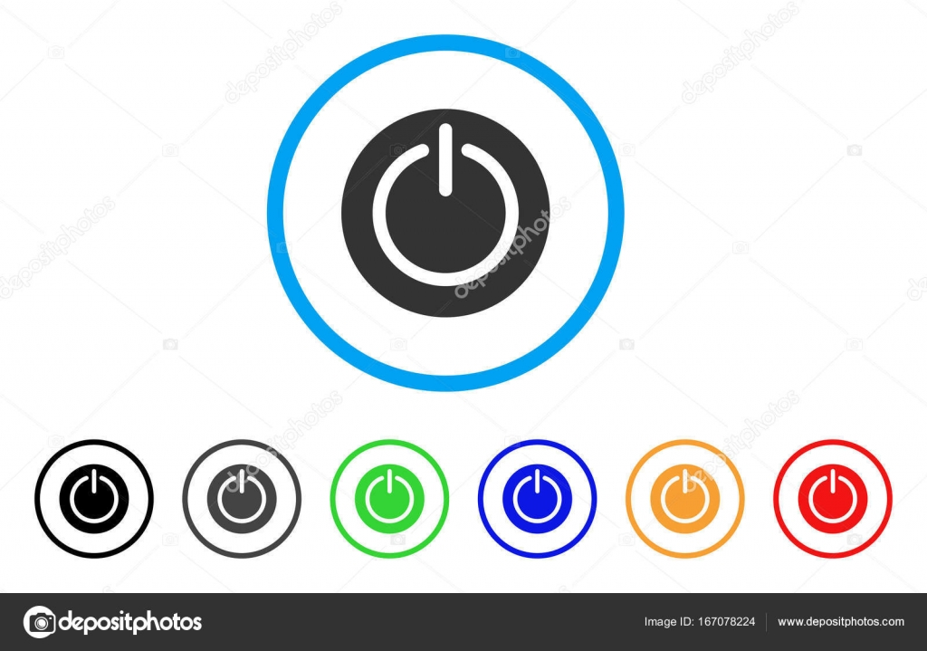 Turn Off Power Rounded Icon Stock Vector C Ahasoft 167078224