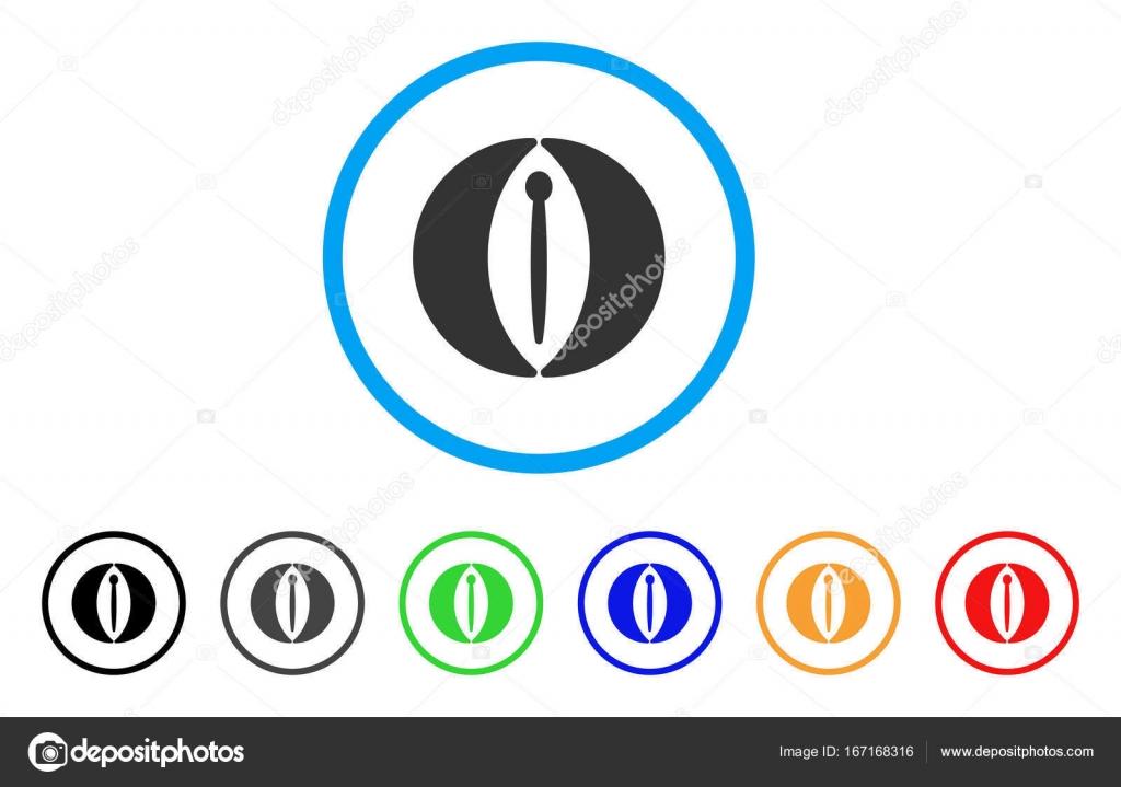 Abgerundete Symbol der weiblichen Genitalien — Stockvektor © ahasoft ...