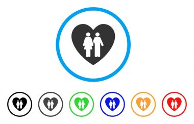Family Love Heart Rounded Icon