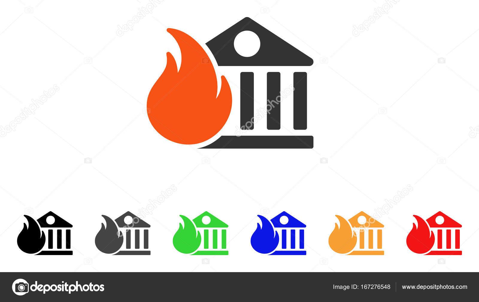 Banque Vectorielle banque feu conflagration vector icon — image vectorielle ahasoft