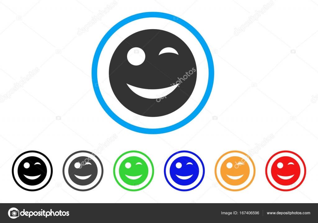 Wink Smiley Vector Icon Stock Vector Ahasoft 167406596