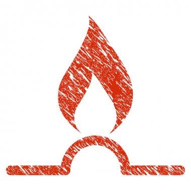 Gas Flame Icon Grunge Watermark