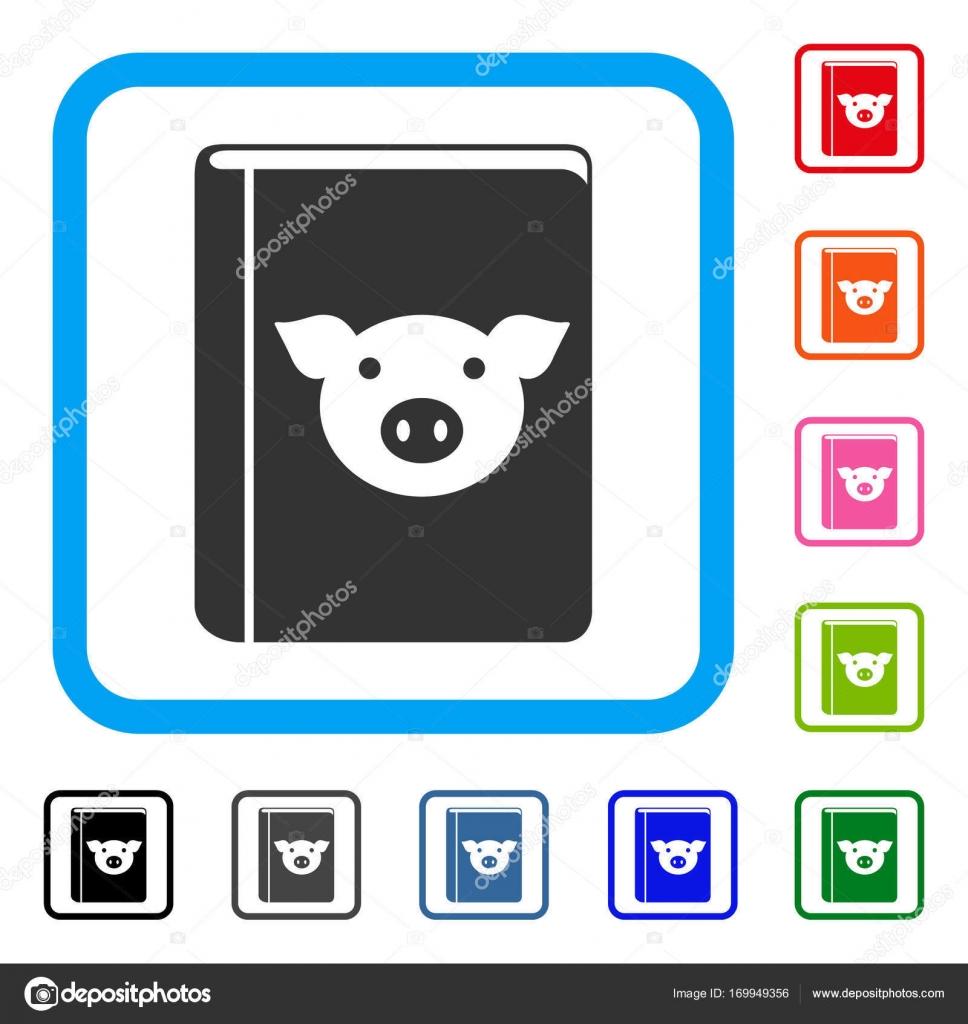 Schwein-Buch gerahmt Symbol — Stockvektor © ahasoft #169949356