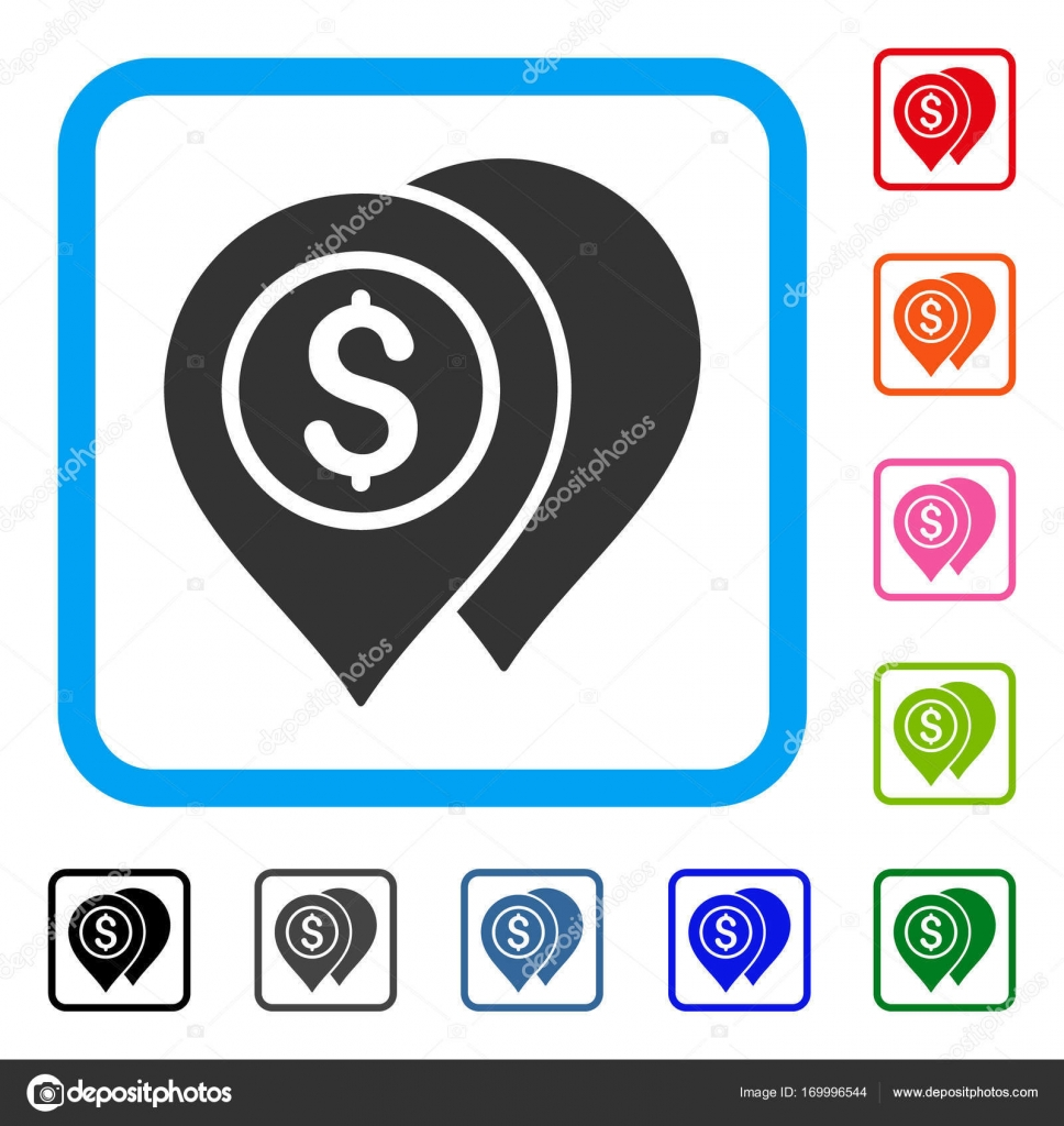 Bank Karte Zeiger gerahmt Symbol — Stockvektor © ahasoft #169996544