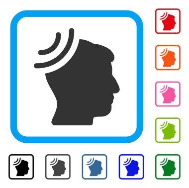 Radio Reception Brain Framed Icon