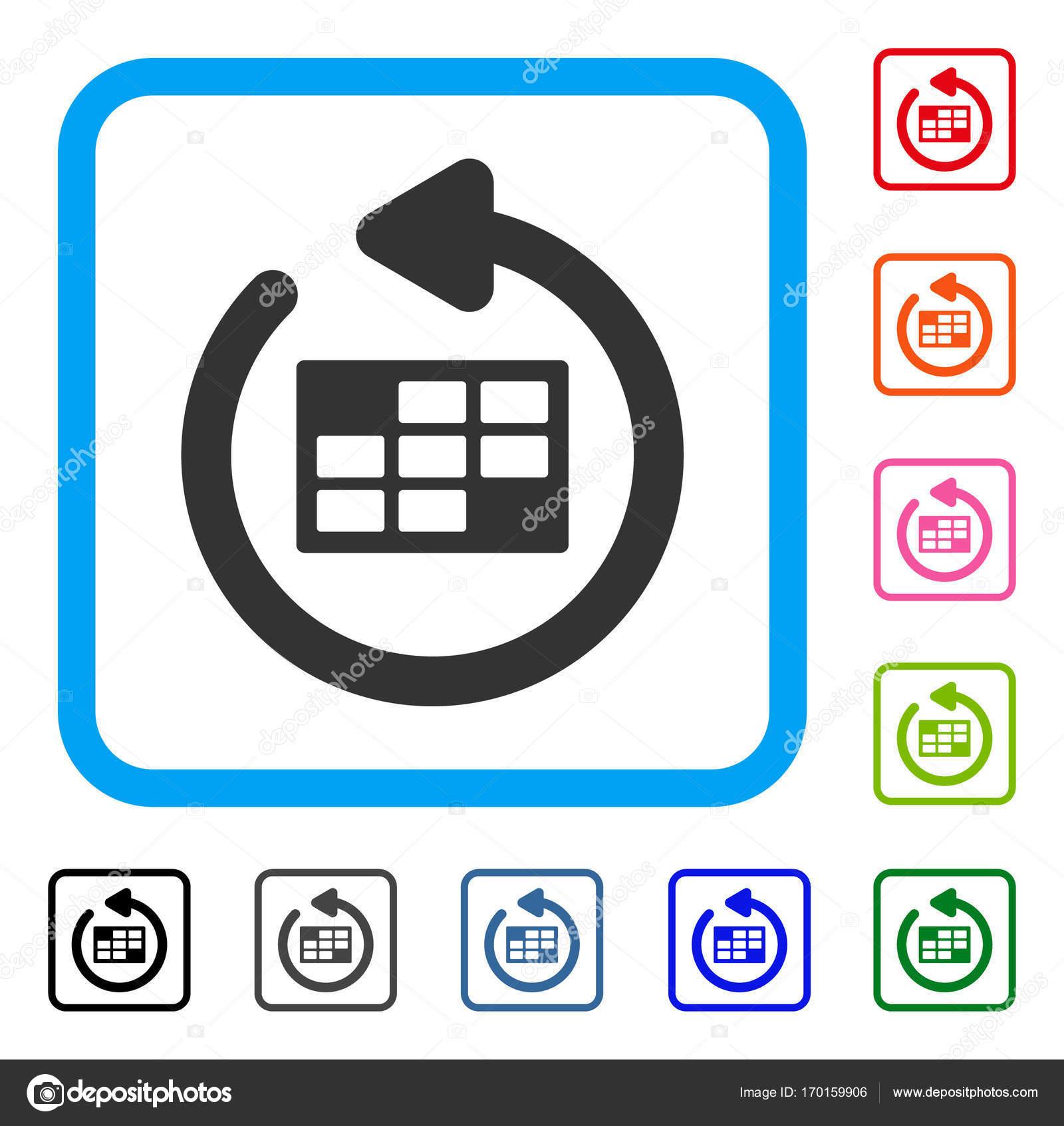 Actualizar Calendario.Actualizar Calendario Tabla Enmarcada Icono Vector De