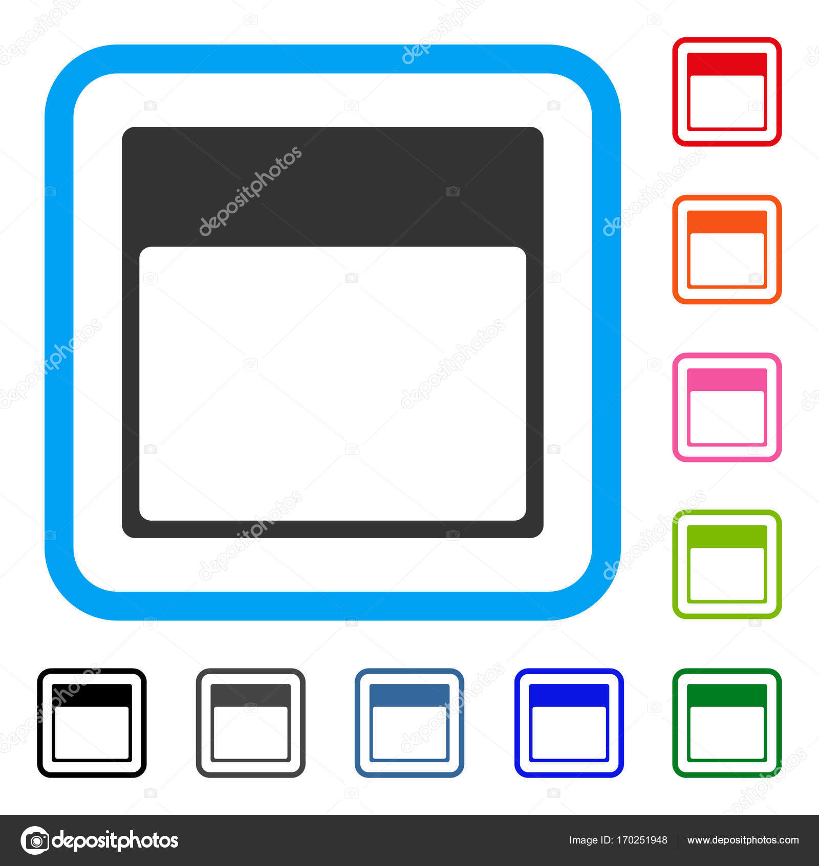 Calendar Page Template Framed Icon — Stock Vector © ahasoft #170251948