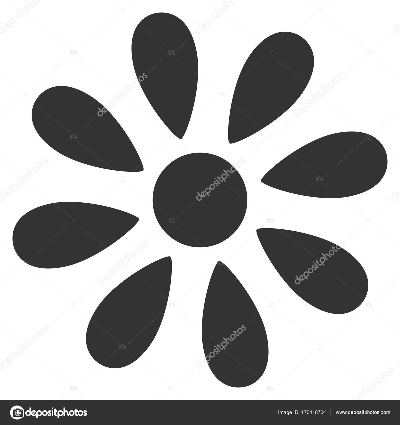 Daisy Flower Flache Symbol Stockvektor Ahasoft 170418704