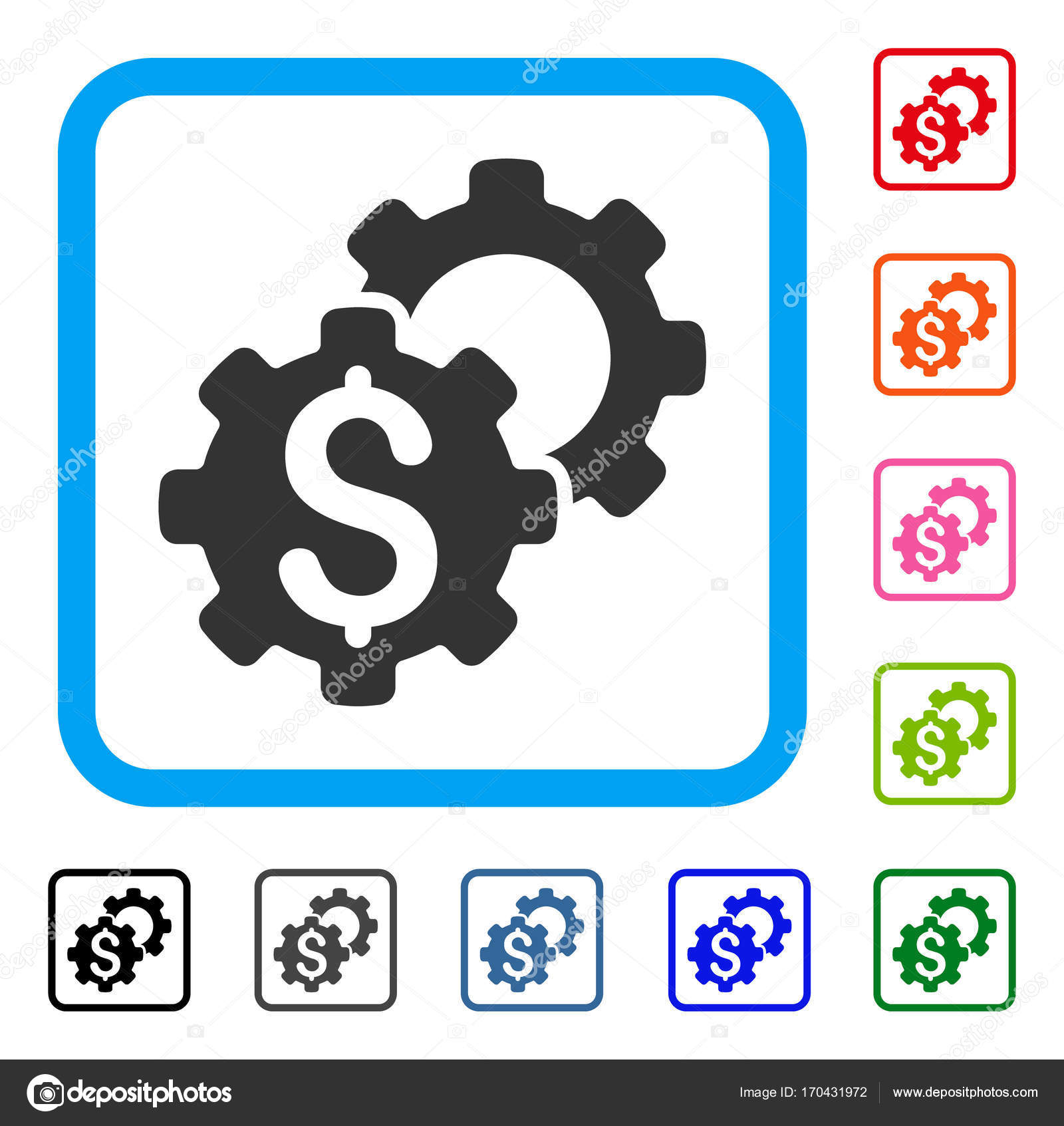 Bank settings framed icon stock vector ahasoft 170431972 bank settings icon flat grey pictogram symbol in a light blue rounded rectangle black gray green blue red orange color additional versions of bank biocorpaavc Gallery