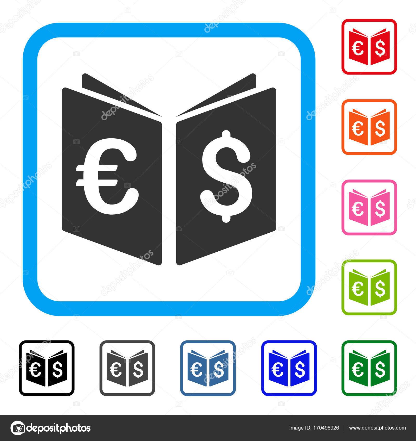 Währung Buch gerahmt Symbol — Stockvektor © ahasoft #170496926