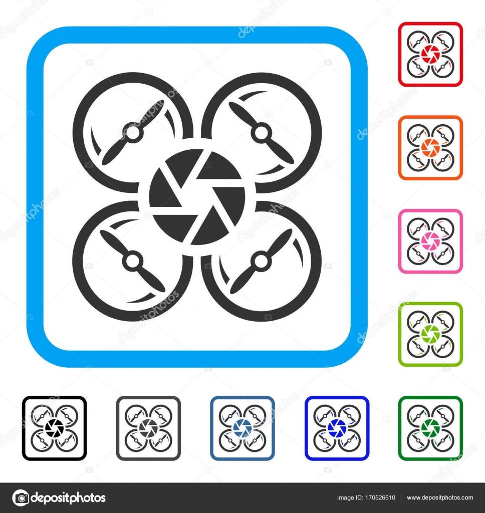 Shutter Drone Framed Icon Stock Vector C Ahasoft 170526510