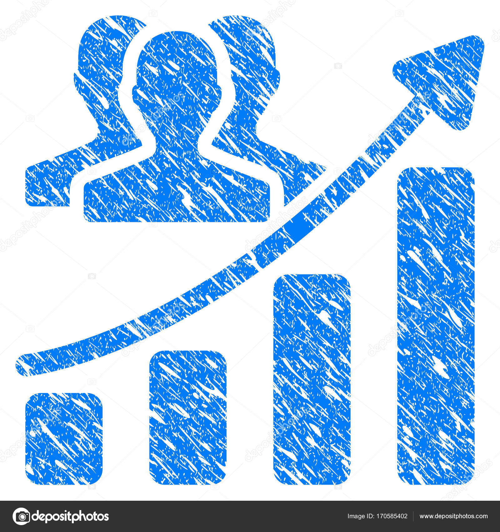 Audience growth chart grunge icon stock vector ahasoft 170585402 audience growth chart grunge icon stock vector nvjuhfo Gallery