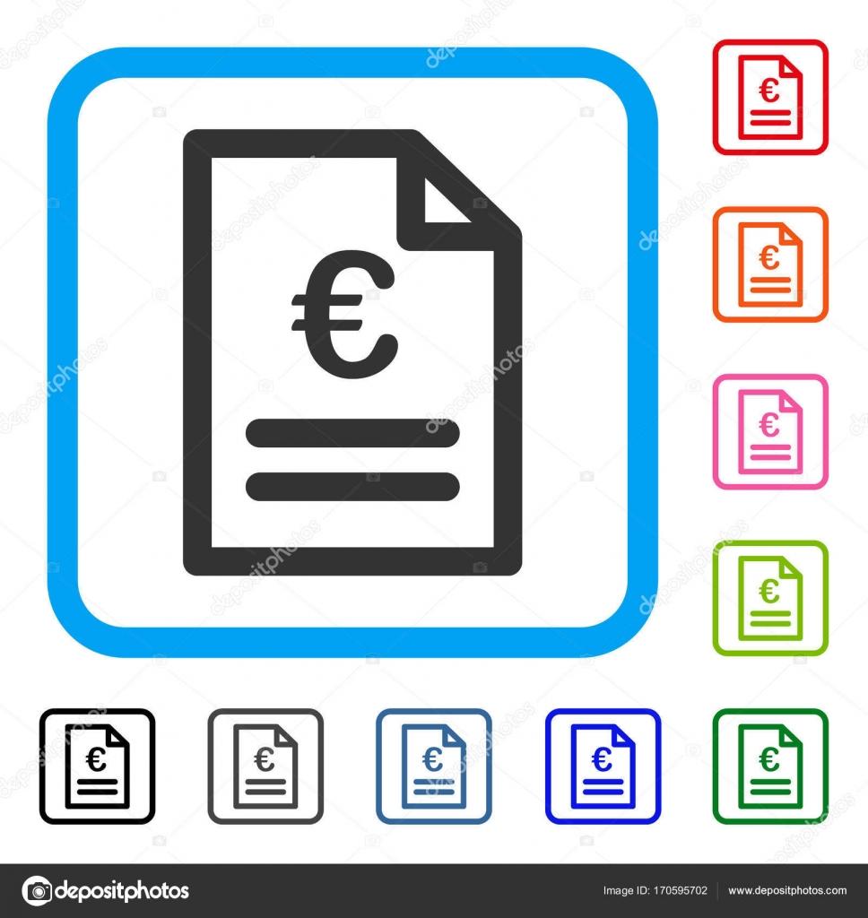 Factura de euro enmarcada icono — Vector de stock © ahasoft #170595702