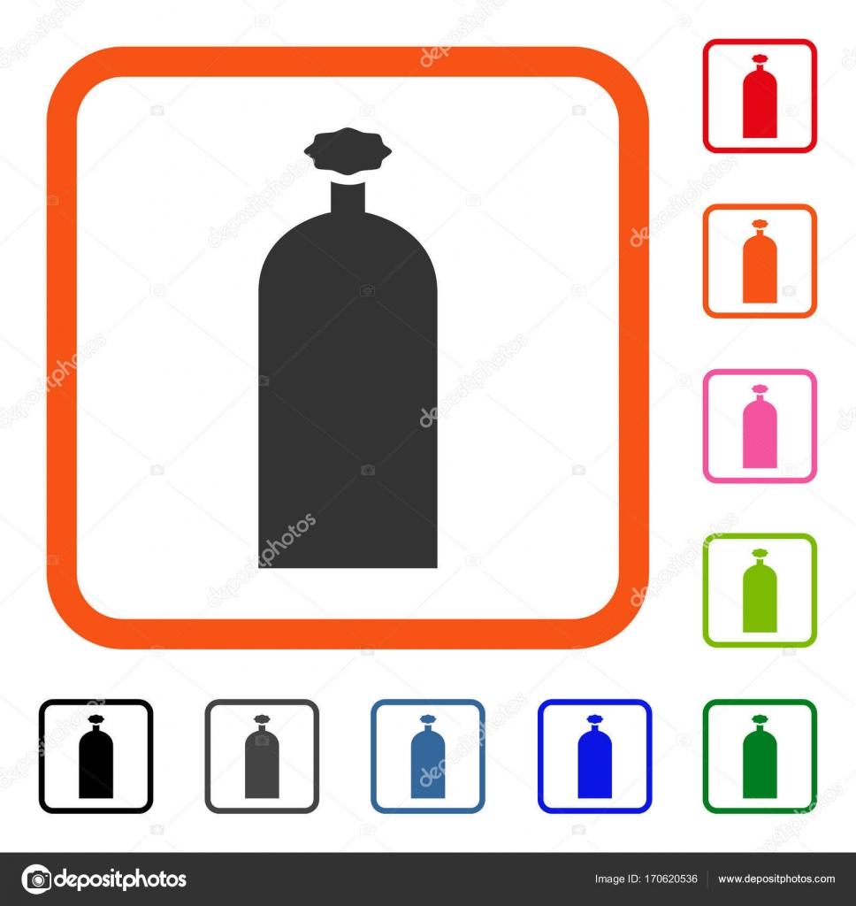 Inne rodzaje Butla gazowa oprawione ikona — Grafika wektorowa © ahasoft #170620536 WR28