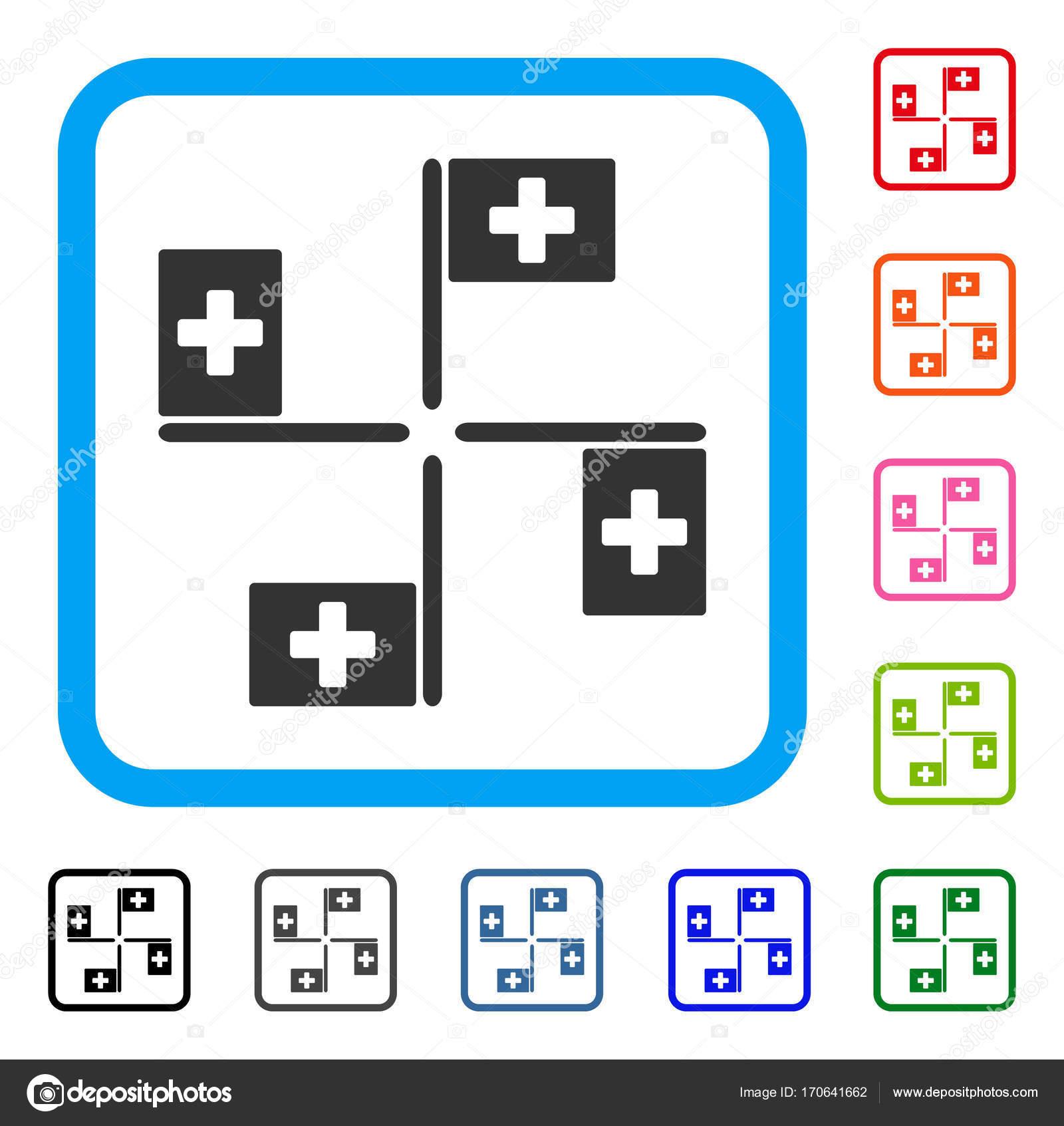 Hospital Flags Framed Icon — Stock Vector © ahasoft #170641662