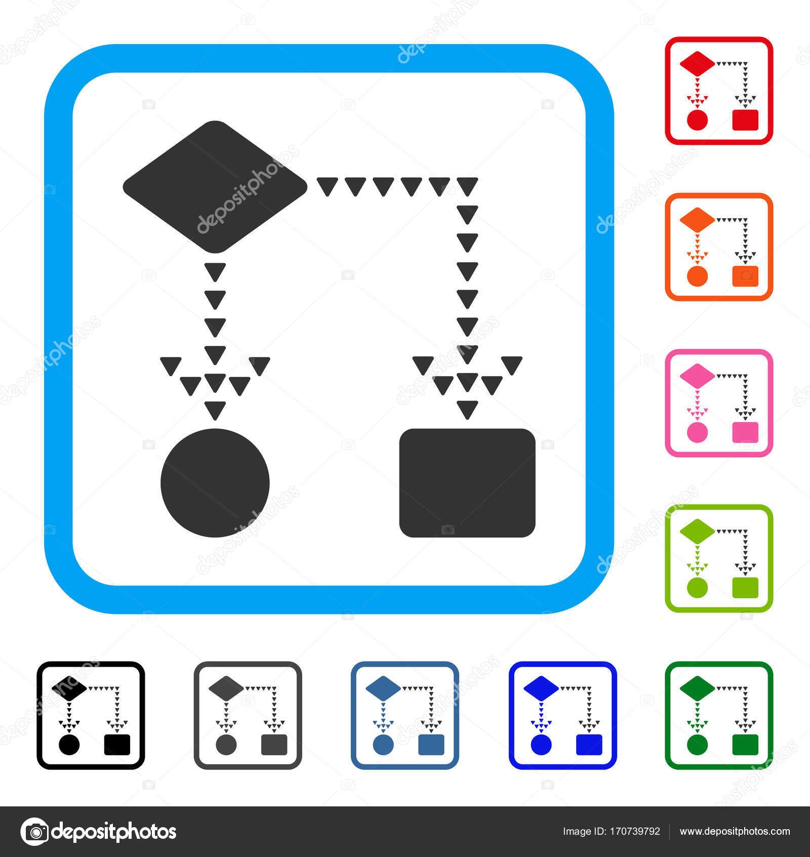 Diagrama de flujo algoritmo enmarcada icono vector de stock diagrama de flujo algoritmo enmarcada icono vector de stock ccuart Choice Image