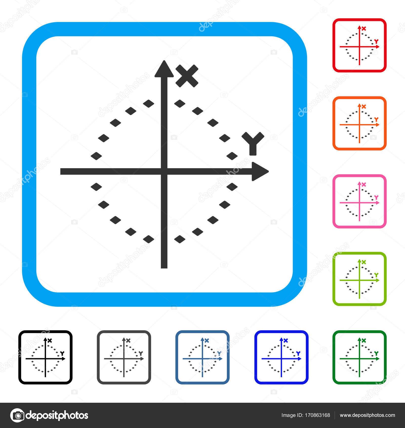 Gepunkteter Kreis Grundstück umrahmt Symbol — Stockvektor © ahasoft ...