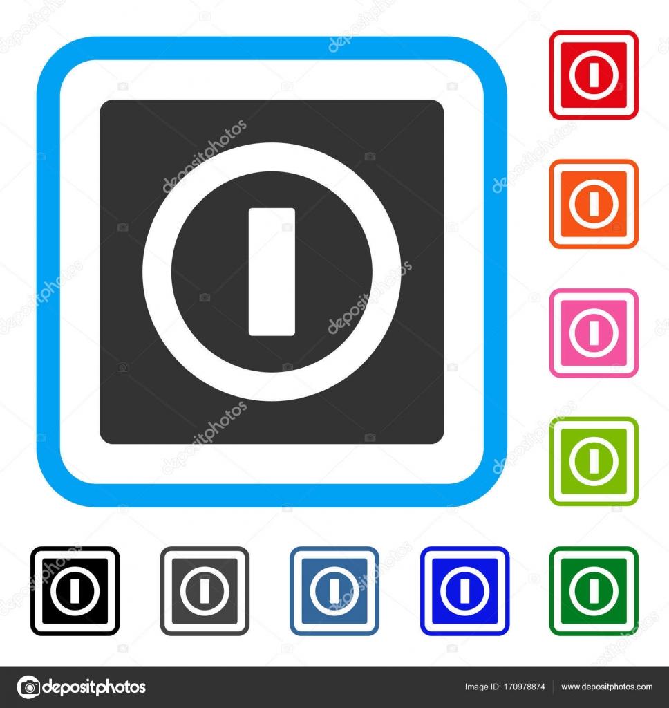 Schalter gerahmt Symbol — Stockvektor © ahasoft #170978874