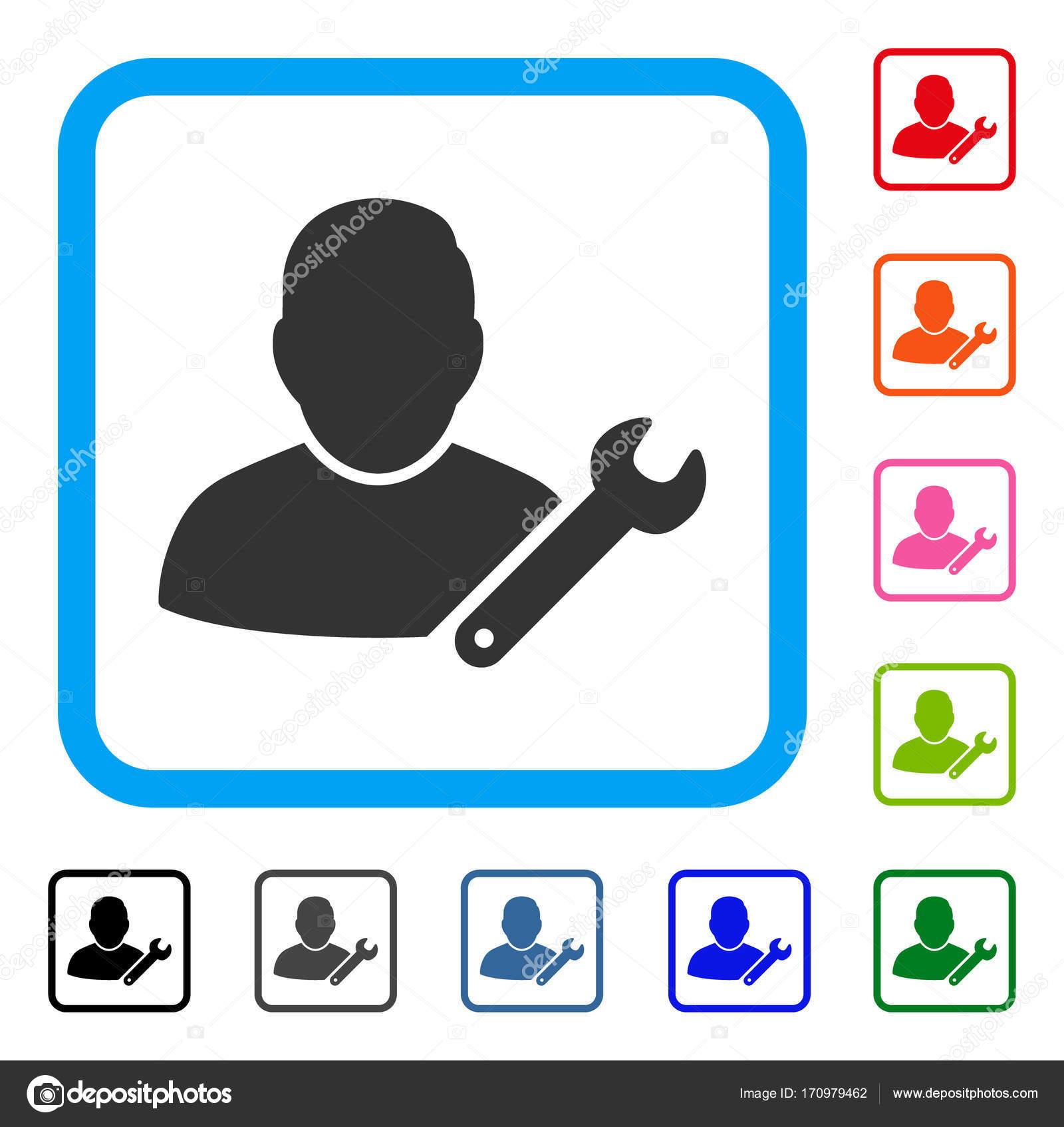 Usuario personalizar icono marco llave — Archivo Imágenes ...