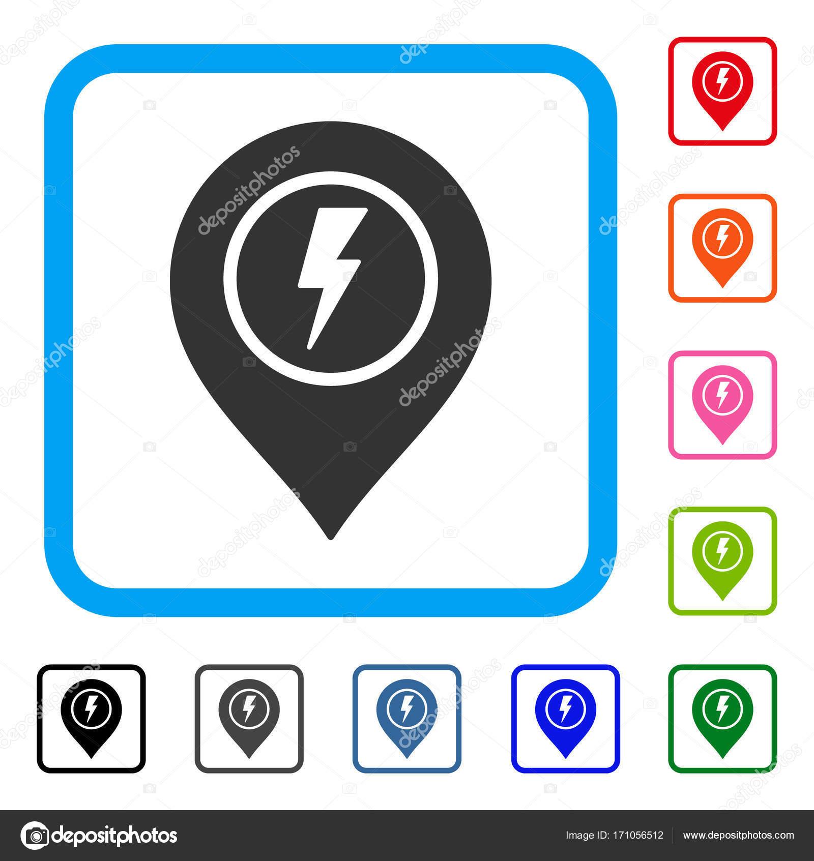 Elektrische Marker gerahmt Symbol — Stockvektor © ahasoft #171056512