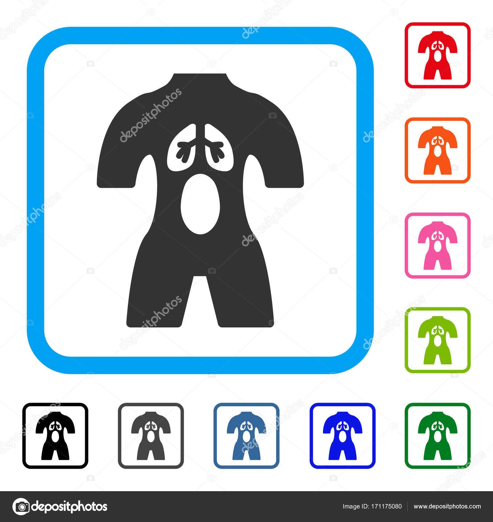 Anatomía enmarcada icono — Vector de stock © ahasoft #171175080