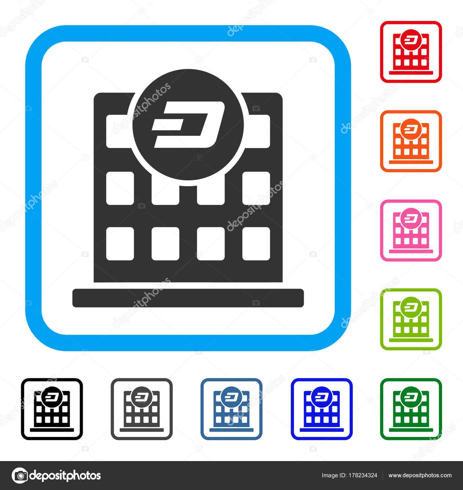 Dash Company Building Framed Icon — Stock Vector © ahasoft #178234324