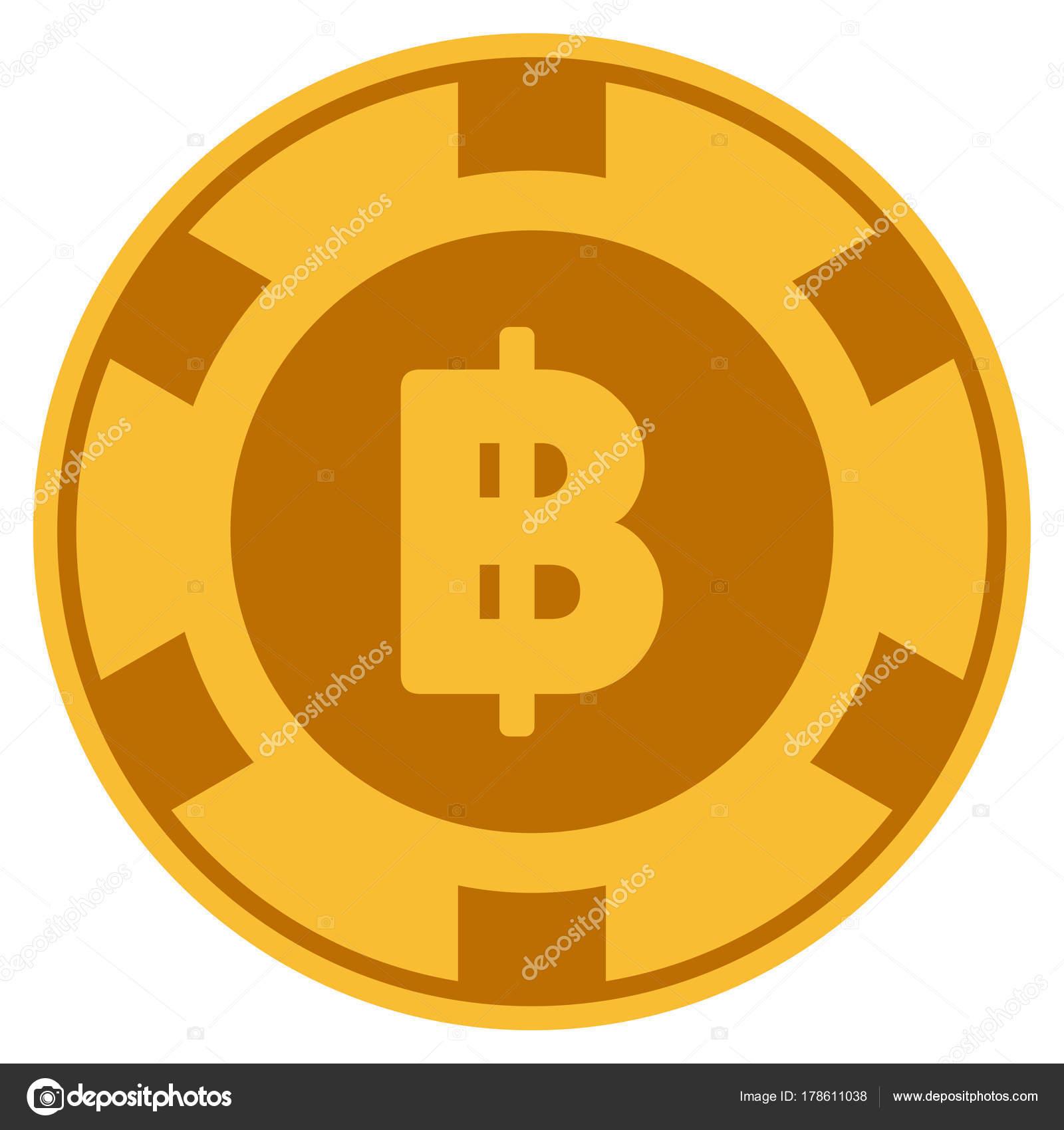 Thai Baht Gold Casino Chip Stock Vector Ahasoft 178611038