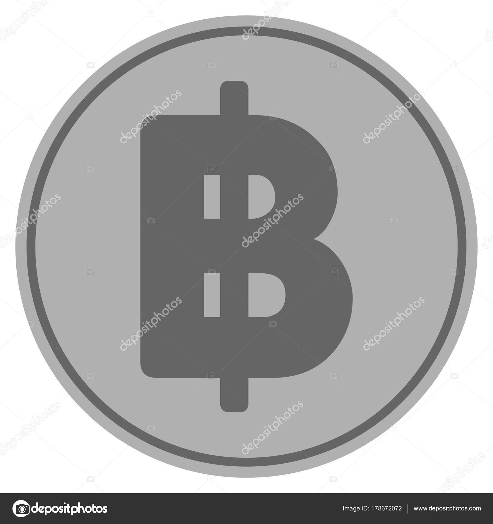Thai Baht Silver Coin Stock Vector Ahasoft 178672072
